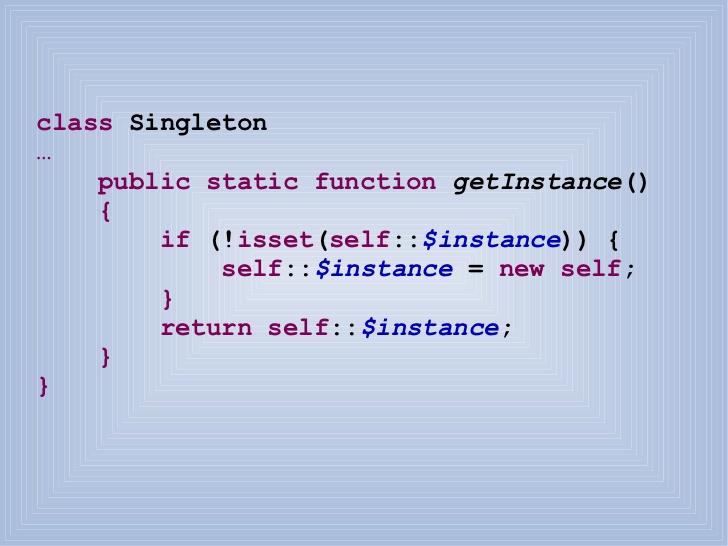Php Patron singleton y la clase para conectar con base de datos CBaseDatos