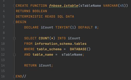 Mysql - Procedimiento almacenado que comprueba si existe una tabla