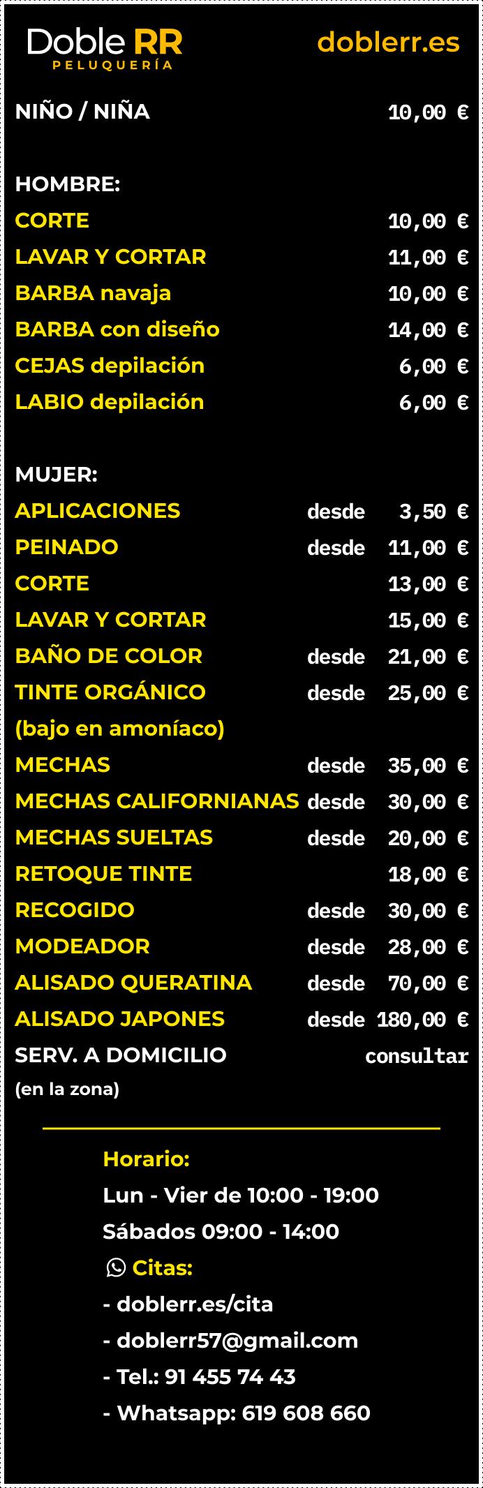 Figma cartel de precios doblerr.es