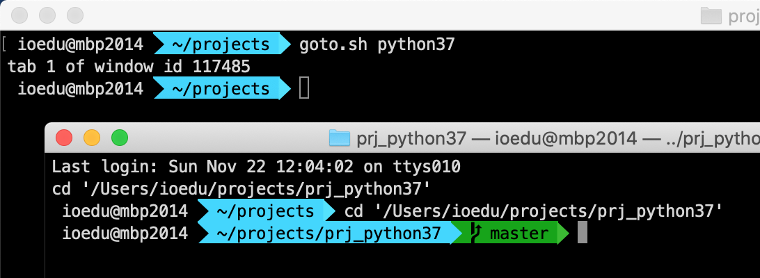 ejemplo ejecución de goto.sh