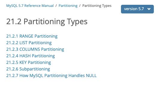Mysql - Consulta para obtener las tablas que tengan particiones