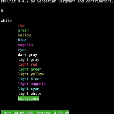 PHP - Clase ColorComponent para aplicar color a los echo o print