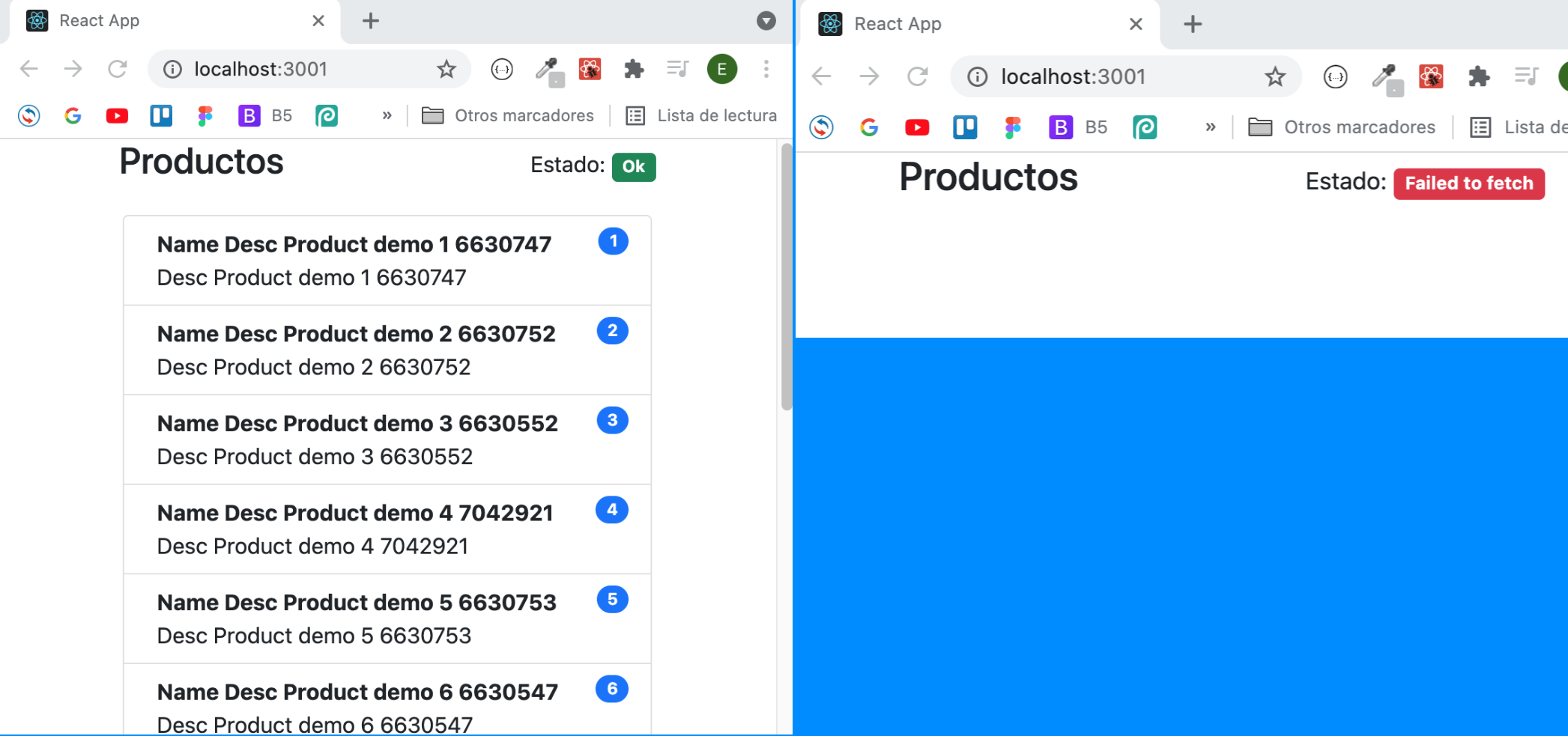 js -react ejemplo useReducer con fetch y bootstrap 5